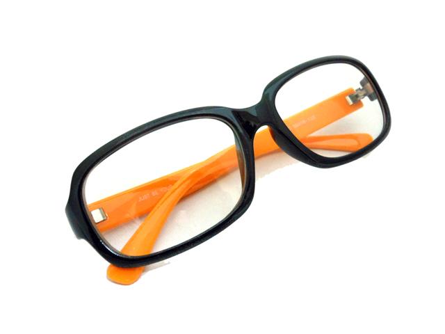 オレンジ×ブラック スクエア3