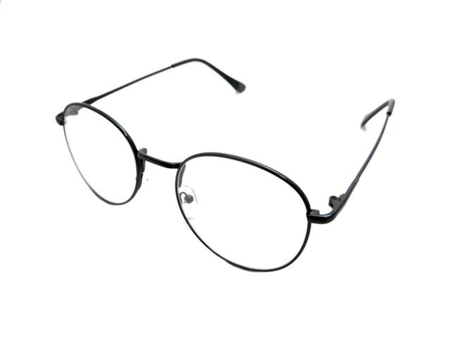 丸メガネ�型 ブラック2
