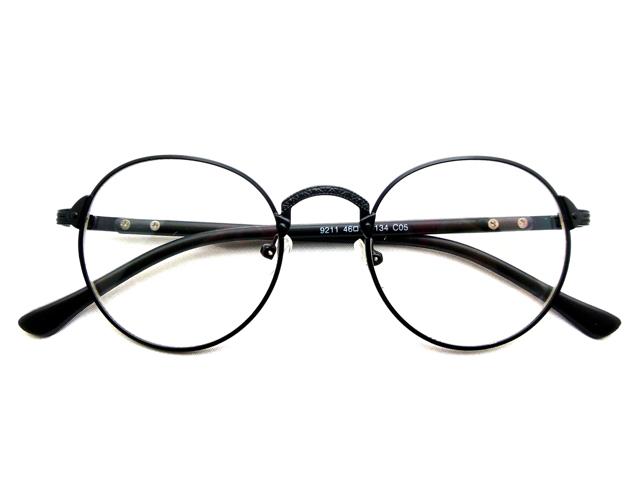 丸メガネ�型 ブラック1