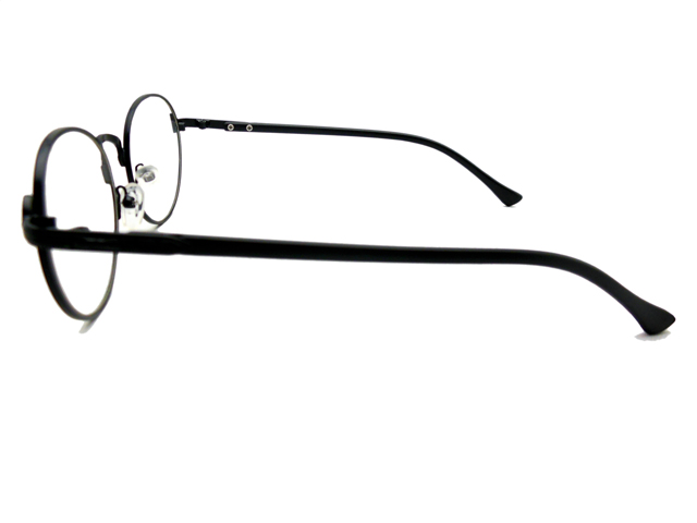 丸メガネ�型 ブラック3