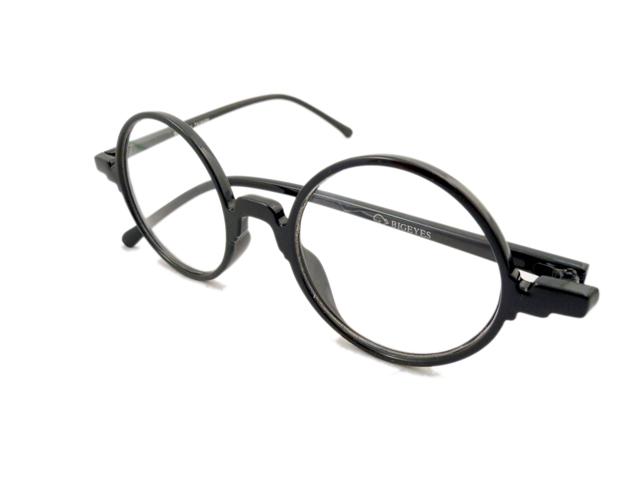 14W/Sラウンド型丸眼鏡 ブラック2