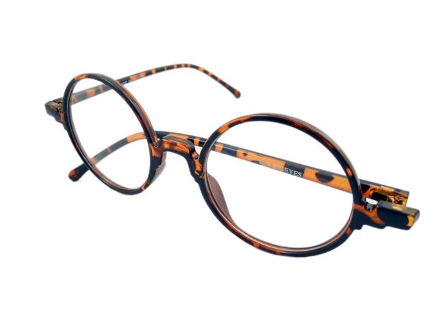 14W/Sラウンド型丸眼鏡 ブラウン2