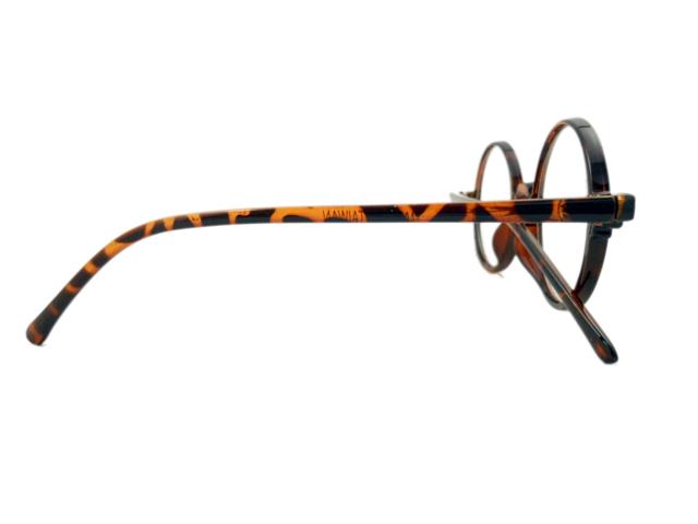 14W/Sラウンド型丸眼鏡 ブラウン3