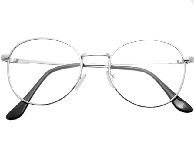 丸メガネ�型 シルバー1