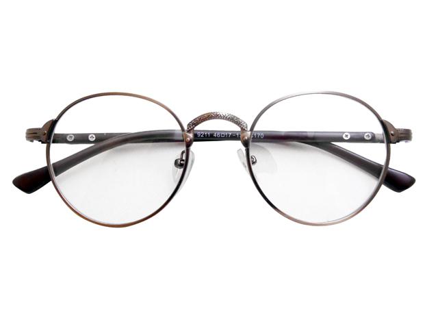 丸メガネ�型 ブロンズ1