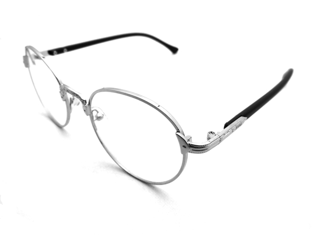 丸メガネ�型 シルバー2