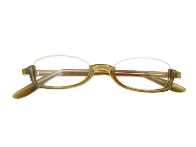 アンダーリムデミ緑 レンズ